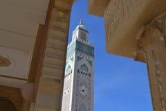 Χασάν 2 μουσουλμανικό τέμενος στην εστίαση Στοκ φωτογραφία με δικαίωμα ελεύθερης χρήσης