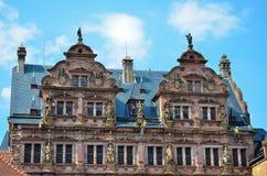 Χαϋδελβέργη, η βασική πρόσοψη του κάστρου 1 Στοκ Φωτογραφίες
