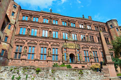 Χαϋδελβέργη, η πρόσοψη των καταστροφών του κάστρου 1 Στοκ Εικόνες