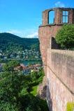 Χαϋδελβέργη, καταστροφές 4 κάστρων Στοκ Φωτογραφίες