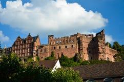 Χαϋδελβέργη, όψη του κάστρου και των καταστροφών του 1 Στοκ Φωτογραφία