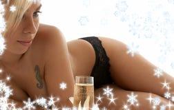 Χαλάρωση με snowflakes Στοκ φωτογραφίες με δικαίωμα ελεύθερης χρήσης