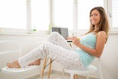 Χαλάρωση πρωινού στοκ εικόνες με δικαίωμα ελεύθερης χρήσης