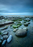 Χαλίκια στον κόλπο Dunraven Στοκ Εικόνες