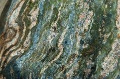 Χαλίκι θάλασσας, ριγωτό, διαφορετικό χρώμα, κυβόλινθος Στοκ Εικόνες
