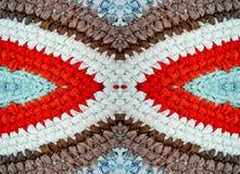 Χαλί χρώματος, πλεκτό τσιγγελάκι, χειροποίητο Στοκ εικόνα με δικαίωμα ελεύθερης χρήσης