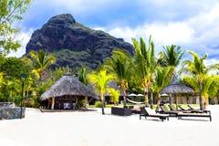 Χαλαρώνοντας διακοπές στον τροπικό παράδεισο Νησί του Μαυρίκιου στοκ εικόνες