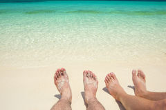 Χαλαρώστε στην παραλία Στοκ Φωτογραφία
