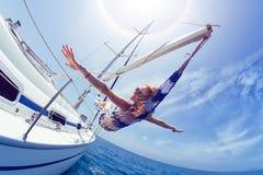 Χαλαρώστε στη βάρκα Στοκ Φωτογραφίες