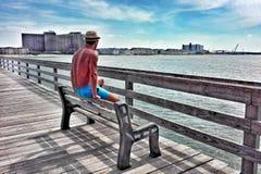 Χαλαρώστε το χρόνο στο oceanfront στοκ φωτογραφίες