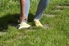Χαλασμένες γυναίκες μυών ποδιών Στοκ Εικόνες