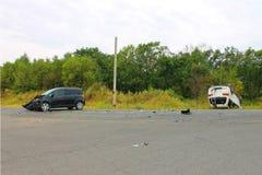χαλασμένη τροχαίο ατύχημα κυκλοφορία ατυχήματος Στοκ φωτογραφίες με δικαίωμα ελεύθερης χρήσης