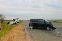 χαλασμένη τροχαίο ατύχημα κυκλοφορία ατυχήματος Στοκ Εικόνα