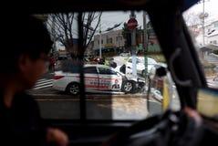 χαλασμένη τροχαίο ατύχημα κυκλοφορία ατυχήματος Στοκ Εικόνες