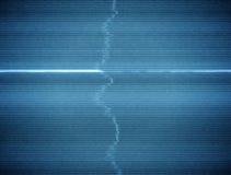 Χαλασμένος βρόχος υποβάθρου TV στατικός με παχύ Scanlines απεικόνιση αποθεμάτων