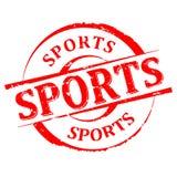 Χαλασμένος γύρω από τη σφραγίδα με την επιγραφή - αθλητισμός - διάνυσμα Στοκ εικόνες με δικαίωμα ελεύθερης χρήσης