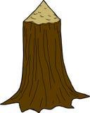 Χαλασμένος κορμός δέντρων διανυσματική απεικόνιση