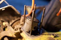 Χαλασμένο έμβολο 50cc του μηχανικού δίκυκλου Στοκ Εικόνα
