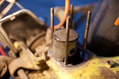 Χαλασμένο έμβολο 50cc του μηχανικού δίκυκλου Στοκ φωτογραφία με δικαίωμα ελεύθερης χρήσης