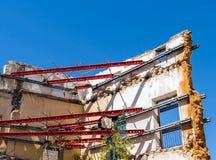 Χαλασμένο κτήριο κάτω από την αναδημιουργία στοκ φωτογραφία με δικαίωμα ελεύθερης χρήσης