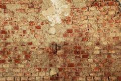 Χαλασμένο παλαιό κόκκινο brickwall Στοκ φωτογραφία με δικαίωμα ελεύθερης χρήσης