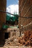 Χαλασμένο σεισμός σπίτι στο Κατμαντού, Νεπάλ στοκ εικόνες