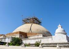 Χαλασμένο Boudhanath σεισμός stupa του Νεπάλ στοκ εικόνες με δικαίωμα ελεύθερης χρήσης