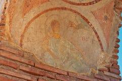 Χαλασμένο Fresko της ευλογίας του χεριού του Θεού Στοκ εικόνα με δικαίωμα ελεύθερης χρήσης