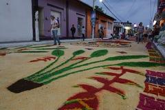 Χαλιά και θρησκεία στο Μεξικό στοκ εικόνα με δικαίωμα ελεύθερης χρήσης
