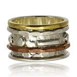 Χαλκός και ασημένιο δαχτυλίδι Στοκ Φωτογραφία