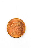 1 χαλκός νομισμάτων αμερικανικών σεντ στο Θεό εμπιστευόμαστε Στοκ Φωτογραφίες