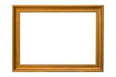 Χαλκός χαλκού και χρυσός τρύγος πλαισίων που απομονώνονται στο άσπρο backgroun Στοκ φωτογραφία με δικαίωμα ελεύθερης χρήσης
