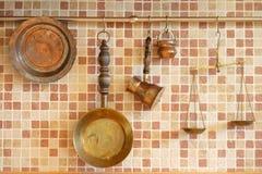 Χαλκός cookware Στοκ Φωτογραφία