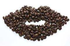 χείλια καφέ φασολιών Στοκ Εικόνες