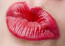 χείλια προκλητικά Στοκ Φωτογραφίες
