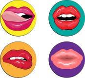 χείλια προκλητικά Στοκ Εικόνες