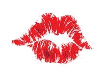 χείλια φιλιών Στοκ Φωτογραφία