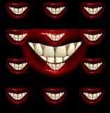 Χείλια 9 φιλιών Στοκ Εικόνες