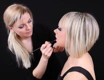 χείλια makeup Στοκ φωτογραφίες με δικαίωμα ελεύθερης χρήσης