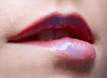 χείλια s κοριτσιών Στοκ εικόνα με δικαίωμα ελεύθερης χρήσης
