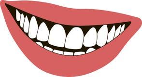 Χείλια χαμόγελου Στοκ φωτογραφία με δικαίωμα ελεύθερης χρήσης