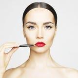 Χείλια makeup Στοκ Εικόνες