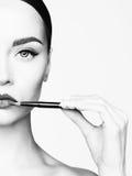 Χείλια makeup Στοκ εικόνες με δικαίωμα ελεύθερης χρήσης