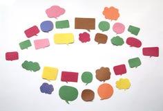 Χείλι φιαγμένο από ομάδα σημαδιών συνομιλίας Στοκ Εικόνες