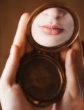 χειλικός καθρέφτης κορι& στοκ φωτογραφία