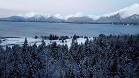 Χειμερινά βουνά στην Αλάσκα απόθεμα βίντεο