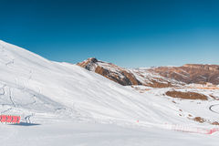 Χειμερινά βουνά στην περιοχή Gusar του Αζερμπαϊτζάν στοκ φωτογραφίες με δικαίωμα ελεύθερης χρήσης