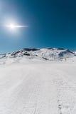 Χειμερινά βουνά στην περιοχή Gusar του Αζερμπαϊτζάν Στοκ εικόνες με δικαίωμα ελεύθερης χρήσης
