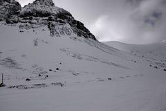Χειμερινά βουνά στη Ρωσία, Khibiny Hibiny, χερσόνησος κόλα Στοκ Εικόνες