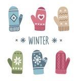 Χειμερινά γάντια απεικόνιση αποθεμάτων